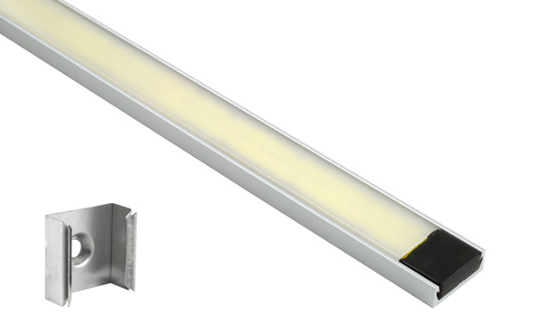 Grote Industries - 61T30 – XTL LED Light Strip in Mounting Extrusion, Opaque, Flat, 18.89 in | 480 mm