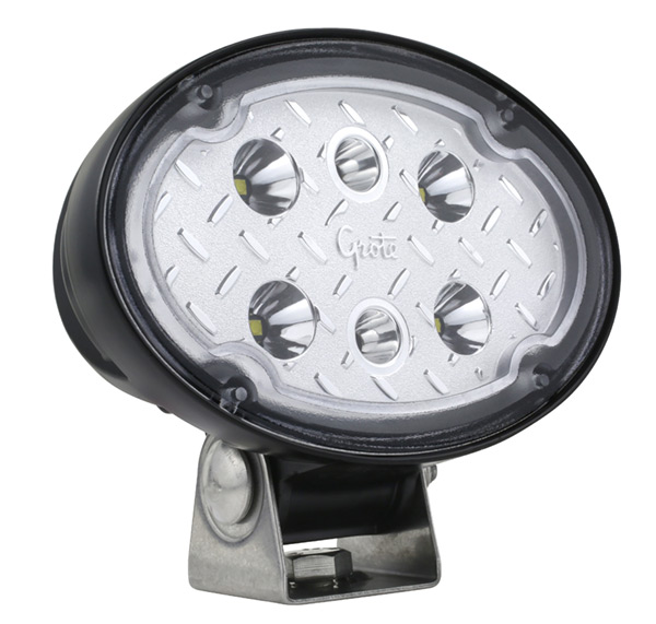 Grote Industries - 64W01 – Trilliant® Oval LED Work Light, Long Range, 2000 Lumen